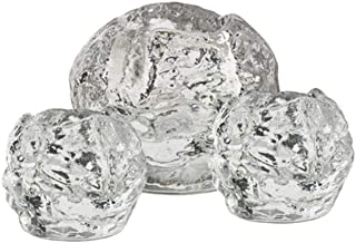 Kosta Boda Snowball Votive Set of 3