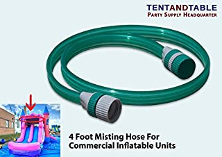 TentandTable 4-Foot Long PVC Plastic Water Misting Hose Inflatable Water Slide Bounce Houses