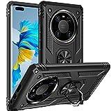 Fetrim Hülle Kompatibel für Huawei Mate 40 PRO, stoßfest Schutzhülle mit Drehring Ständer für Huawei Mate 40 PRO Schwarz