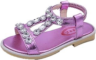 OHmais Enfants Filles Chaussure cérémonie Ballerines à Bride Fête Demoiselle d'honneur Mariage Escarpin Plat Babies
