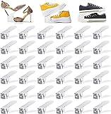 LSZ Scaffali portascarpe Organizzatore di slot per scarpe regolabili, impilatore di scarpe per un paio di scarpe, salvascheria scarpa, supporto per scarpe da scarpe doppia per armadio per armadio Scaf