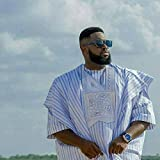 Ofidy African Striped Blue Mens Native Wear(Complete Agbada) (Fabric)