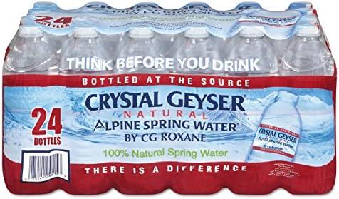 Crystal Geyser 24514CT Alpine Spring Water 16 9 oz Bottle 24 Bottles in Case Sold As 1 Case product image