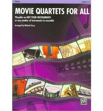 Movie Quartets for All, Violin, Level 1-4 (Movie Instrumental Ensembles for All) (Sheet music) - Common