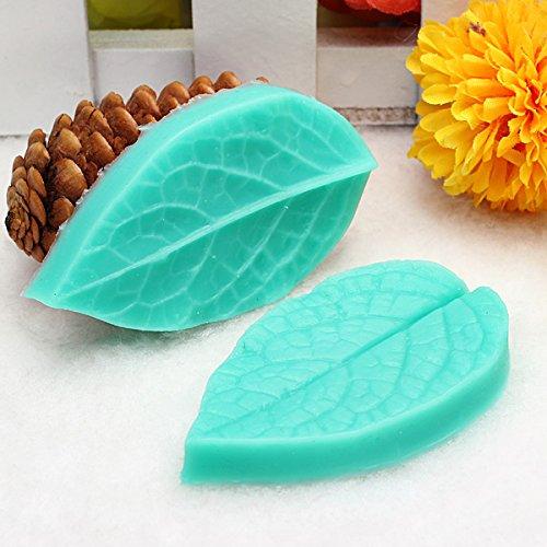 Bureze Tc3773 en Forme de Feuille en Silicone Moule Fondant Gâteau 3D Moule en Silicone Cuisson Outil de décoration