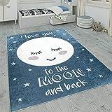 Paco Home Kinderteppich, Waschbarer Kinderzimmer Teppich m. Stern, Mond u....
