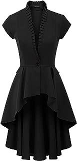 Womens Gothic Steampunk Jacket Long Victorian Waistcoat Jacket Top