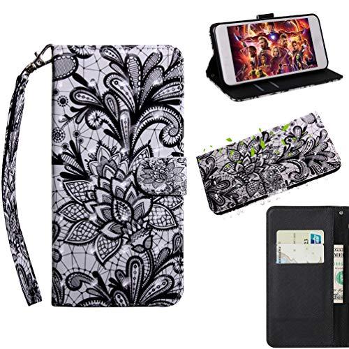 Bumina - Custodia a Portafoglio per Nokia 9 PureView, Verniciata in 3D, Antiurto, in Pelle PU, con Porta Carte di Credito e Cinturino da Polso, Chiusura Magnetica, per Nokia 9 PureView