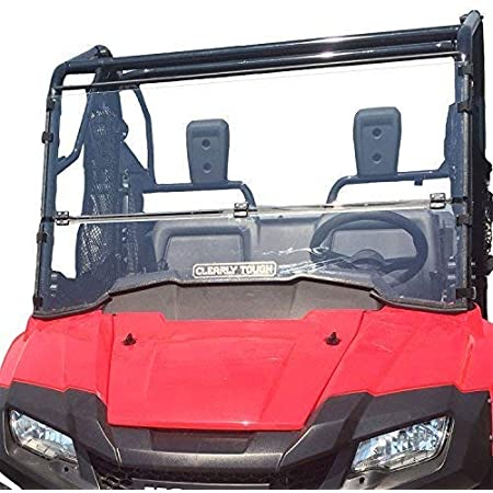 Clearly Tough Honda Pioneer 700 Windshield - Full Folding -Scratch Resistant- Ultimate Side by Side Versatility! Easy on and Off. Quickly go from Full to Half or Off!Premium Hard CoatMade in America!