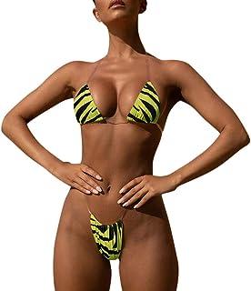 Bikini Set Brasiliano Halter Bling Perizoma Bikini Mini Shiny Glitter Sequin Costume da Bagno Costume da Bagno Costumi da Bagno Donna Estate