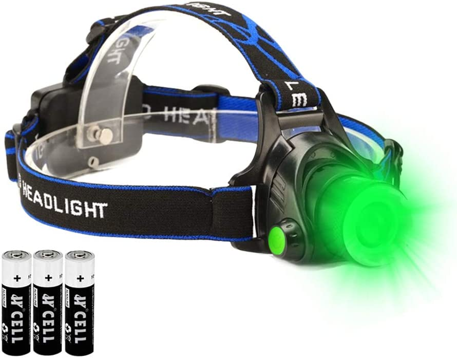 Green LED Headlamp Waterproof Head with Max 63% OFF Zoomable Light Torch and Max 82% OFF