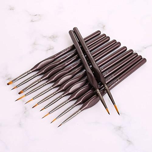URNOFHW 12pcs/set Fine Paint Brushes Nylon Hair Paintbrushes Art Tool