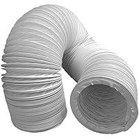 Tubo de salida de aire (PVC, diseño flexible, 100/102 mm de diámetro, 3 m de largo, compatible con instalaciones de aire acondicionado, secadoras o campanas extractoras)