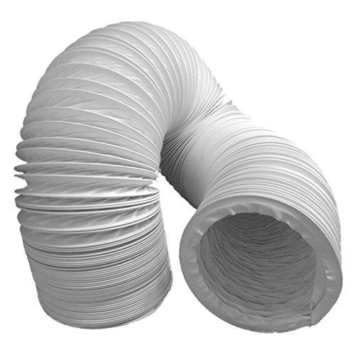 Tubo di scarico aria daniplus, flessibile, in PVC, diametro 100/102 mm, lunghezza 5m, perfetto per impianti di climatizzazione, asciugatrici e cappe aspiranti