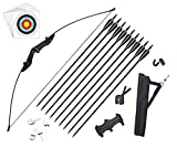 Vogbel Archery Takedown Recurve Bow and Arrows Set Adult Longbow Kit for Beginner Outdoor Hunting Shooting Training (Black,40lb)
