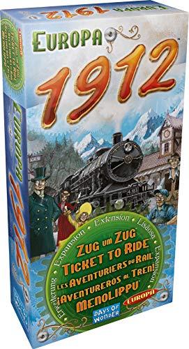 Asmodee Zug um Zug - Europa 1912, Erweiterung, Familienspiel, Strategiespiel, Deutsch