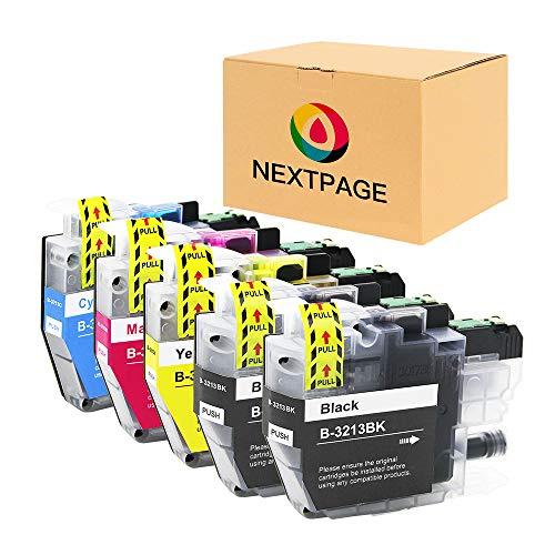 NEXTPAGE LC3213 Druckerpatronen Kompatibel für Brother LC3213 LC-3213 LC3211 für Brother MFC-J491DW MFC-J497DW DCP-J572dw MFC-J890DW MFC-J895DW DCP-J772DW DCP-J774DW (2Schwarz,1Cyan,1Magenta,1Gelb)