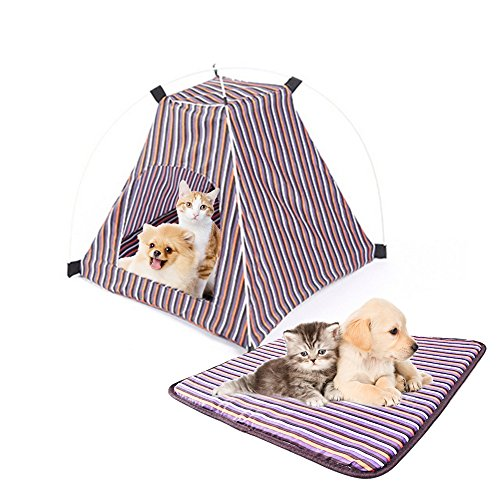 Pet Tent ,Portable Folding Dog Cat House Bed Tent Waterproof Indoor...