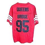 Prodigy #95 Men's Football Movie Jersey Red Blue S-5XL Jersey (Red, Men-3XL)