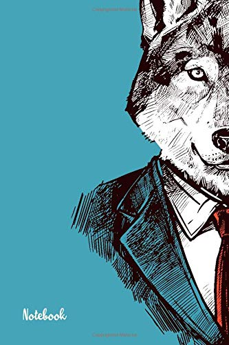 Notebook: Mr Wolf, Lined, Soft Cover, Size (6 x 9): Notebook: Blue, Large Composition Book, Journal