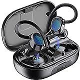 Auriculares Inalámbricos Deportivos, Auriculares Bluetooth 5.1 Deporte IPX7 Impermeable Cascos Inalámbricos con Mic 48H Estéreo Cancelación de Ruido In-Ear Auriculares Running/Sport, Control Tactil