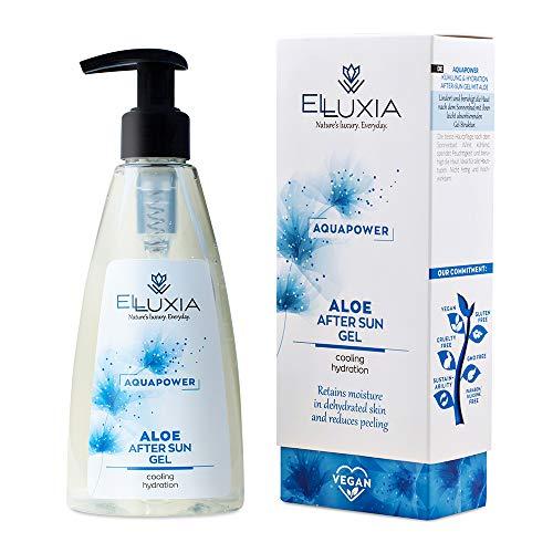 ELLUXIA - Aftersun en gel natural con áloe vera, vitamina E y pantenol, refrescante, perfecto para después de la exposición solar, sin sulfatos, parabenos ni PEG, elaborado en Grecia