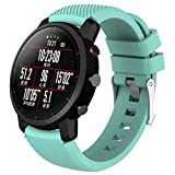 Internet_Reemplazo Suave Silicagel Deportes Reloj Banda Correa para HUAMI Amazfit Stratos para 6.1'-9.0' (150 mm-228 mm) de muñeca 2 Smart Watch,Descuento de liquidación (Verde Menta, A)