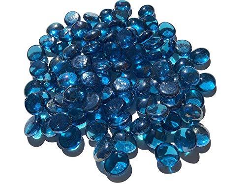 Crystal King - Piedras de cristal azules (2 cm, 500 g), diseño de flores