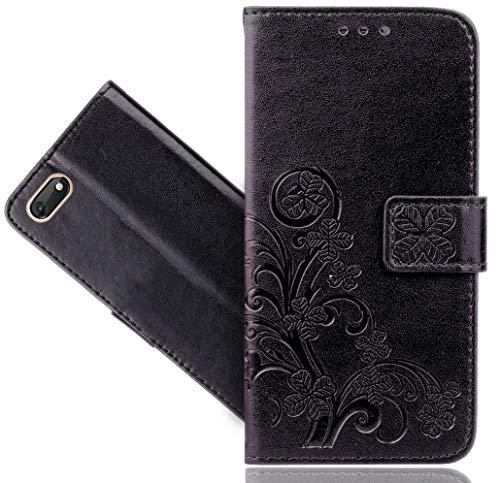 Wiko Harry 2 Handy Tasche, FoneExpert® Wallet Hülle Cover Flower Hüllen Etui Hülle Ledertasche Lederhülle Schutzhülle Für Wiko Harry 2