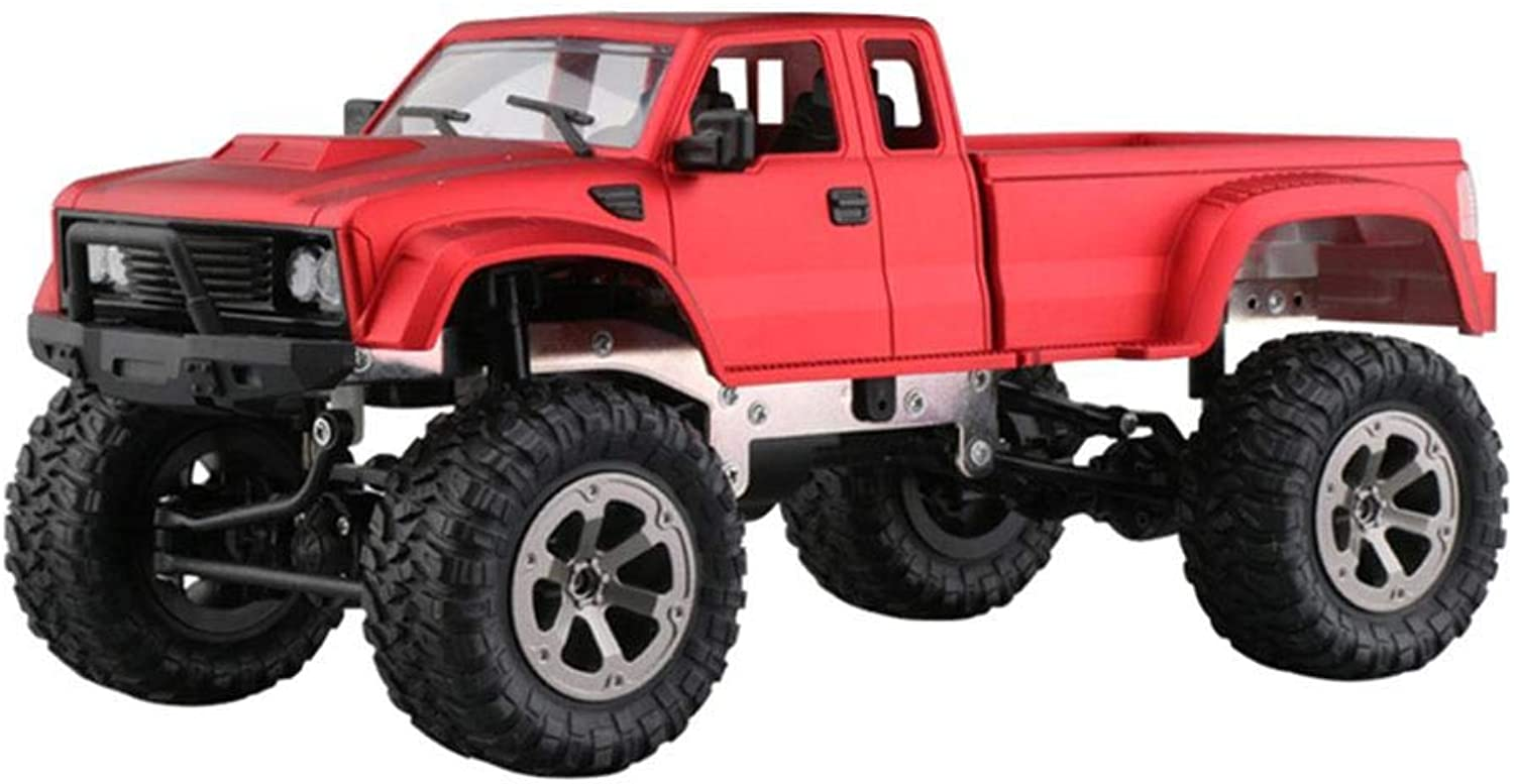 Generic 1 16 Scale 2.4G High Speed RC Truck 2.4GHZ RC Racing Shaft Drive Toy Track Snow Land Toys Cars Remote Controls red