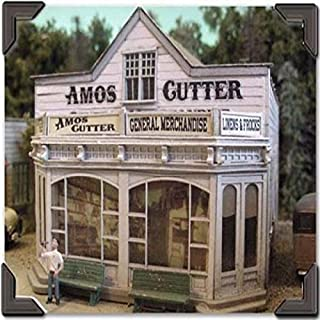 BAR MILLS HO SCALE MODEL TRAIN BUILDINGS - AMOS CUTTER GENERAL MERCHANDISE - 0462