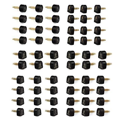 DIVISTAR Reparaturspitzen für High Heels, 5 Verschiedene Größen, 60 Stück
