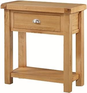 The One Newport aus Solider Eiche Medium Konsole–Hall Tisch mit Schublade und 6403–Finish: Light Rustikale Eiche–Flur, Esszimmer, Wohnzimmer Möbel