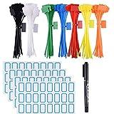 250PCS Targhette identificative per cavi in nylon con fascette, Cavo autobloccante per la produzione di etichette.