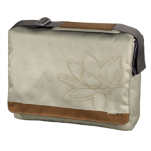 aha: Notebook-Messenger Tasche Plant bis 40 cm (15,6 Zoll) beige