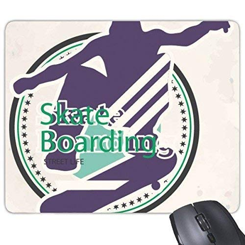 Winter Sport Snowboarden Extreme Sport Atleten Skate Boarding Illustratie Rechthoek Antislip Rubber Mousepad Game Mouse Pad