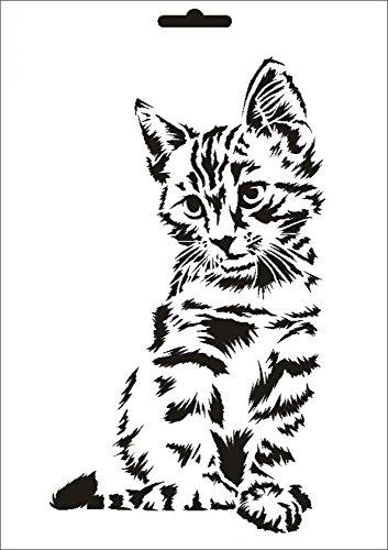 UMR-Design W-631 Cat Wand/Textilschablone Grösse A4