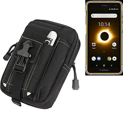 K-S-Trade Gürtel Tasche Für Ruggear RG650 Gürteltasche Holster Schutzhülle Handy Hülle Smartphone Outdoor Handyhülle Schwarz Zusatzfächer