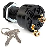 Roykaw Electric Golf Cart Ignition Key Switch Starter Switch for Club Car DS 101826201 1996-Up 36/48 Volts