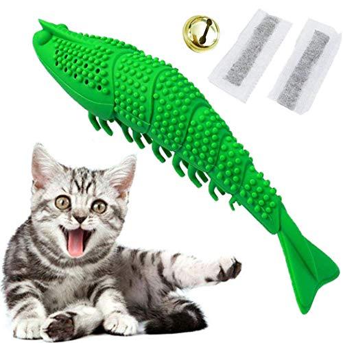 Bogeer Katzenzahnbürste, Futterspender Intelligenzspielzeug für Katzen, Katzenspielzeug, Katzenminze Spielzeug, Katzen Spielsachen, Weiche Interaktive Haustiere Biss Zubehör für Katze