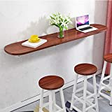 Wall-Mounted Folding bar Table Home Small Apartment Kitchen Small Table Folding Dining Table Wall-Mounted Study Table Multi-Function Shelf Rack Desktop Thickness 2.5cm More Durable