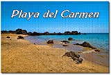 MX-XXUOUO Rompecabezas - México Playa del Carmen - 1000 Piezas, De Madera,Juguetes y Juegos Hechos a Mano