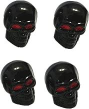Funnytoday365 4 Pcs/Set Skull Head Expression Car Tire Tyre Dust Stem Air Valve Caps