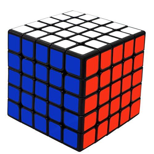 Maomaoyu Cubo Magico Original 5x5 5x5x5 Profesional Speed Cube Niños Juguetes Educativos Negro
