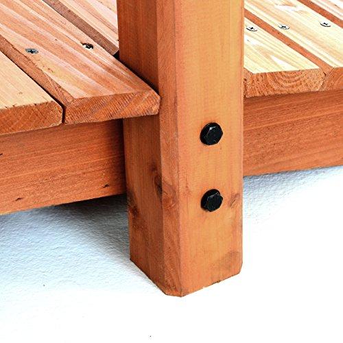 Gartenbrücke aus Holz mit Geländer - 3