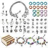 gioielli kit di creazione di braccialetti per ragazze set di artigianato regalo 6-12 anni ragazze anziane bambini braccialetto con ciondoli fai-da-te età attuale 7 8 9 ragazza bambini arte per arti