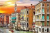 FAWFAW Puzzle Personalizado 1500 Piezas, Atardecer En El Gran Canal De Venecia, Italia 1500/1000/500/300 Piezas