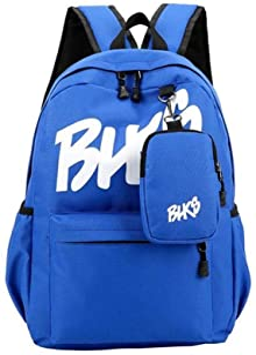 temochi(テモチ) リュック ミニポーチ 2点セット バッグパック バッグ かばん 大容量 4色展開(黒 紺 ピンク 青)