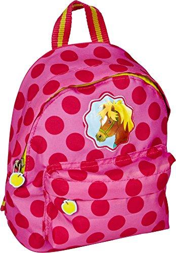 Die Spiegelburg 14521, Zaino, Borsa da Bambine per Scuola, Sport o Tempo Libero - Colore: Rosa con Pois ed Inserti - Serie: Mio Mini Pony