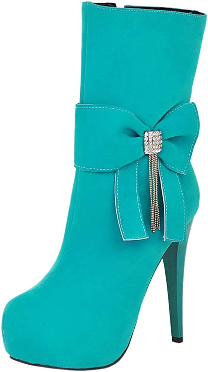 ELEEMEE Women Fashion Stiletto Ankle Boots